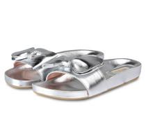 Sandalen - silber metallic