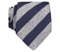 Krawatte - navy/ weiss gestreift
