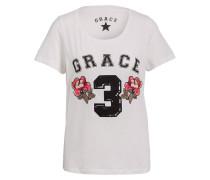 T-Shirt - weiss/ schwarz/ rosa