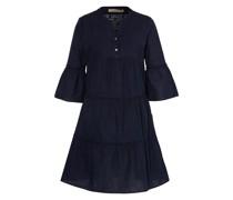 Kleid mit 3/4-Arm und Leinen