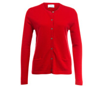 Cashmere-Cardigan - rot