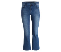 Cropped-Jeans - darkblue denim