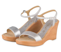 Wedges RITA - silber metallic