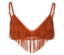 Bikini-Top COASTAL FRINGE - braun