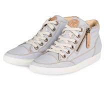 Hightop-Sneaker - hellblau/ beige