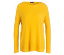 Cashmere-Pullover - senfgelb