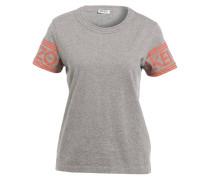T-Shirt - grau/ orange