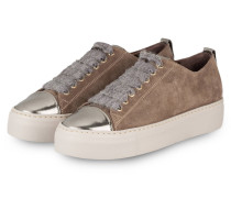 Plateau-Sneaker - taupe/ silber