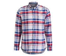 Hemd SHANE New York-Fit - rot/ blau
