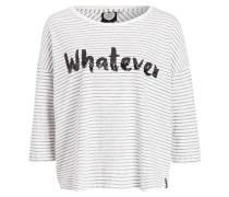 Shirt WHATEVER - weiss/ schwarz gestreift