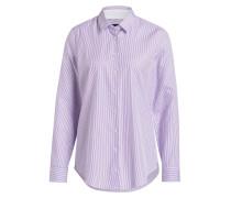 Bluse MADISON - violett/weiss gestreift