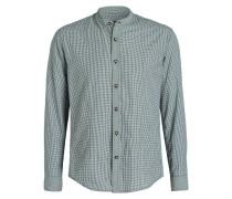 Trachtenhemd LASSE - grün/ weiss