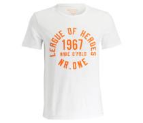 T-Shirt - offwhite/ orange