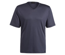 Lounge-Shirt BASIC LOUNGE - grau