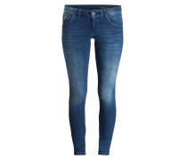 Skinny-Jeans SKARA - green water wash