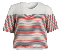 T-Shirt - rot/ blau/ beige/ gestreift
