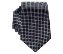 Krawatte - marine/ weiss