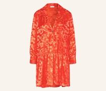 Jacquard-Kleid mit Seide