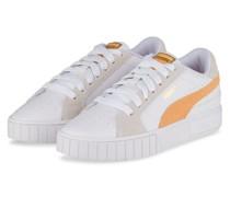 Plateau-Sneaker - WEISS/ HELLORANGE/ CREME