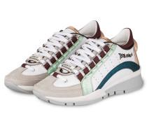 Sneaker 551 - weiss/ petrol/ rosé