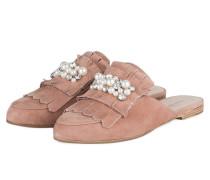 Slipper REESE mit Perlenbesatz - pink