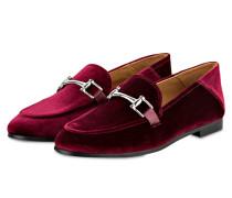College-Loafer aus Samt - bordeaux