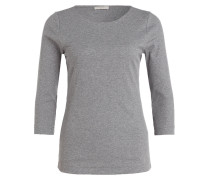 Shirt mit 3/4-Arm - grau meliert