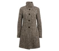 Mantel - schwarz/ grau/ beige