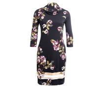 Kleid - schwarz/ weiss/ violett