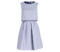 Jacquard-Kleid PIANURA - blau