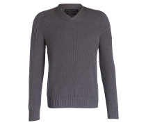 Pullover VALEMONT aus Merinowolle - grau