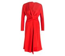 Kleid aus Seide - rot
