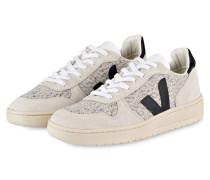 Sneaker V-10 - beige/ schwarz/ weiss