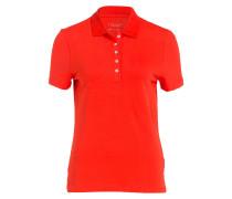 Jersey-Poloshirt - orangerot