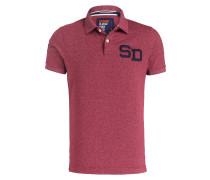 Piqué-Poloshirt COACHES - rot meliert