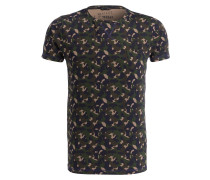 T-Shirt - grün/ braun/ navy
