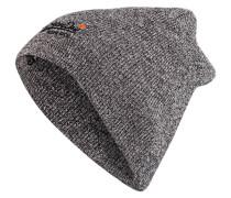 Mütze - dunkelgrau meliert