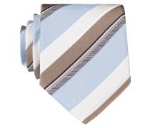 Krawatte - weiss/ hellblau/ braun