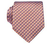 Krawatte - orange/ weiss/ blau