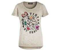 T-Shirt - taupe meliert