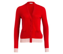Cashmere-Cardigan - rot/ rosa