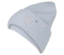 Grobstrick-Mütze - hellblau