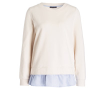 Sweatshirt mit Blusensaum - ecru