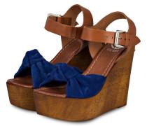 Wedges - braun/ blau
