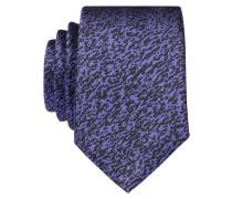 Krawatte - schwarz/ lila