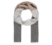 Schal mit Leinenanteil - grau/ beige
