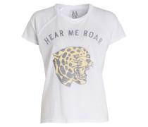 T-Shirt HEAR ME ROAR - weiss