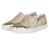 Slip-On-Sneaker CLAIRE - beige/ gold