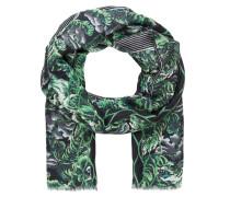 Schal - grün/ hellblau/ dunkelgrau