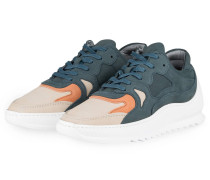 Sneaker - blau/ weiß/ beige